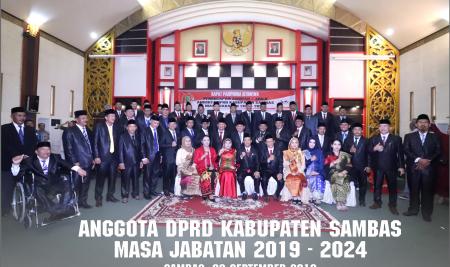 Pengadilan Negeri Sambas REsmi Lantik 45 Anggota DPRD Sambas