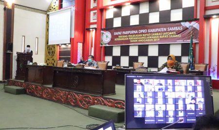 DPRD Gelar Paripurna LKPJ Melalui Video Conference