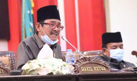 Laksanakan Paripurna Raperda Pengelolaan Keuangan Daerah, DPRD Terapkan Protokol Kesehatan