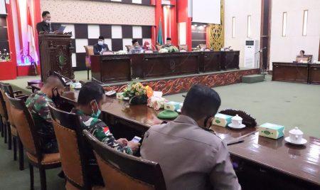 DPRD Sambas Gelar Paripurna PU Fraksi Atas Raperda APBD 2021