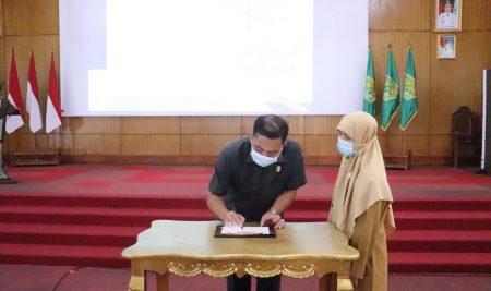 DPRD Sambas Apresiasi Launching E-Belalik yang dikembangkan BKPSDMAD